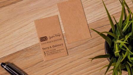 Kraft name card – in card visit giấy tái chế thân thiện.