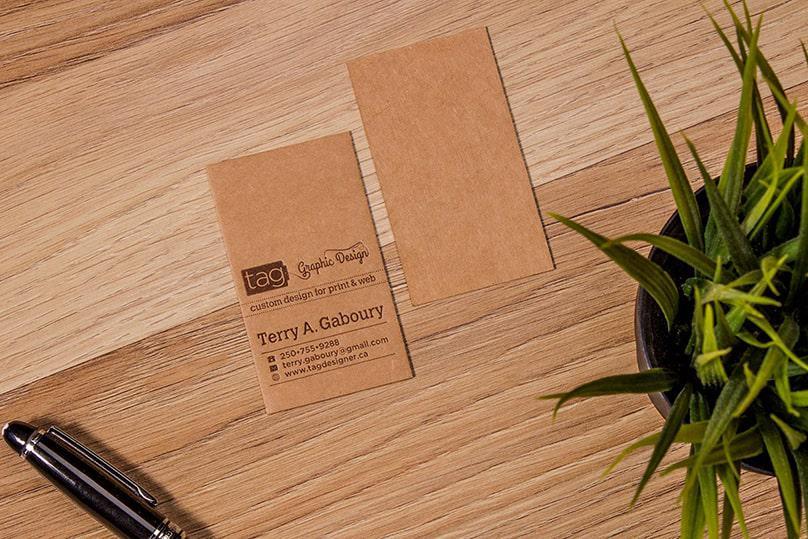 Kraft dòng giấy tái chế tuyệt vời để in name card