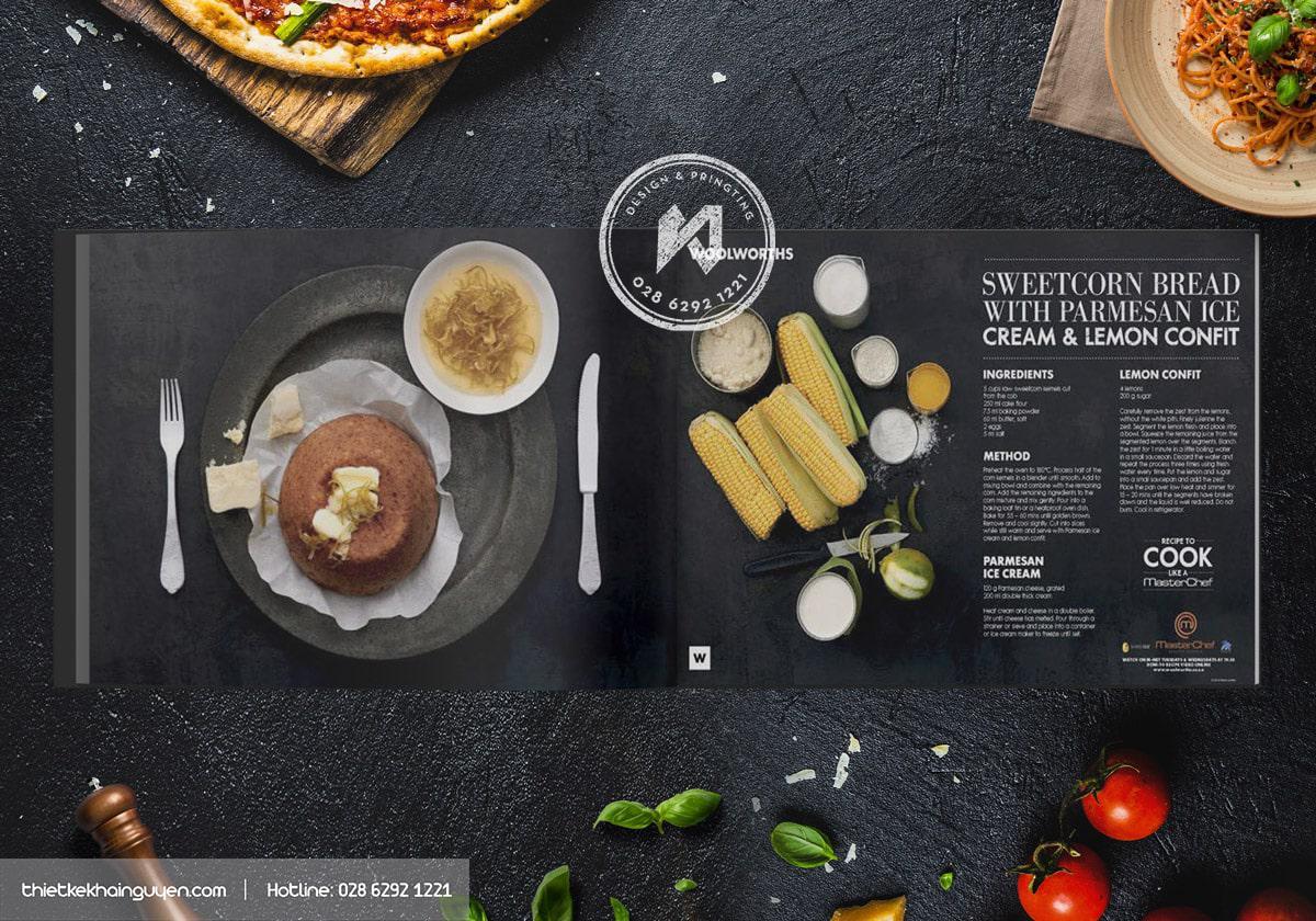 Thiết kế menu đẹp với màu đen huyền bí
