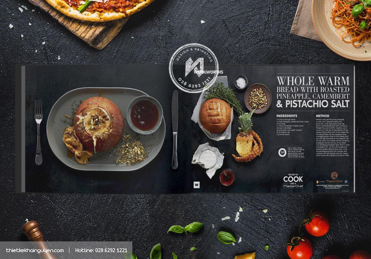 Mẫu menu design cực chất của MasterChef