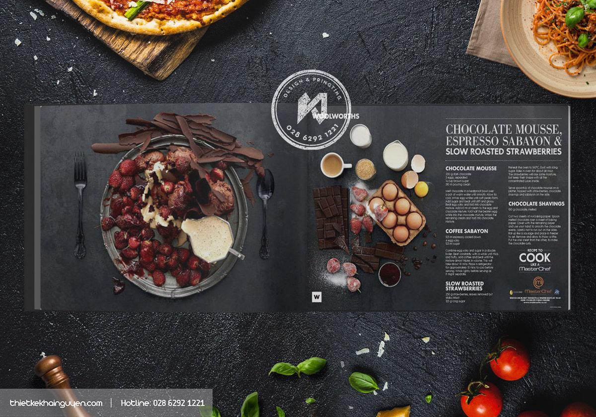 Menu Catalogue - Masterchef Menu Design