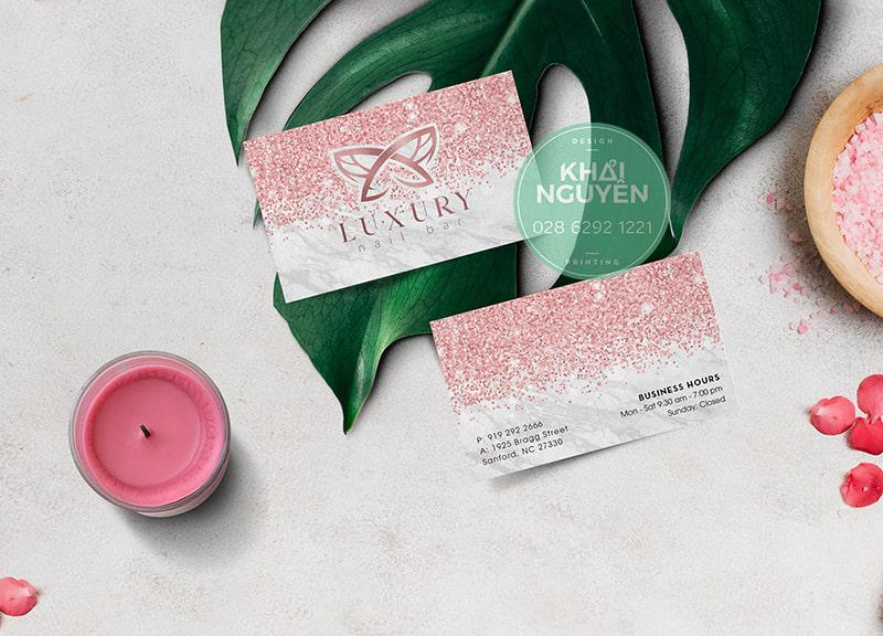 Luxury Name card Nails Spa