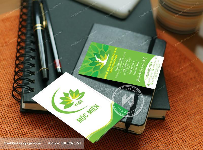 Card visit trung tâm Yoga Mộc Miên
