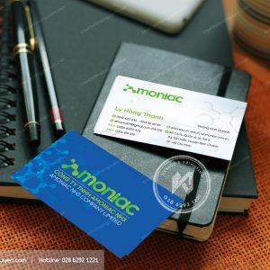Thiết kế card visit công ty với bố cục đơn giản