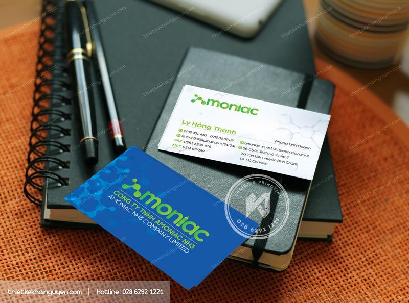Amoniac NH5 Company Limited - Mẫu card visit công ty Hóa Phẩm