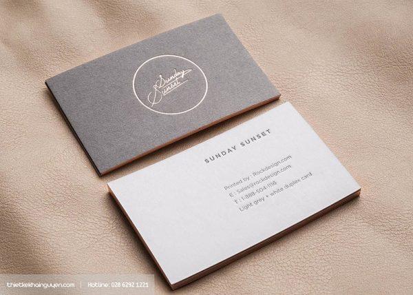 In card visit giấy mỹ thuật bằng công nghệ KTS
