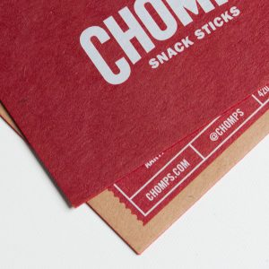 Name card kraft phủ viền màu cao cấp