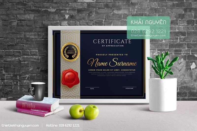 In giấy khen thưởng chuyên nghiệp theo yêu cầu