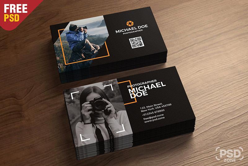 Template card visit nhiếp ảnh gia - đơn giản mang đến sự thành công