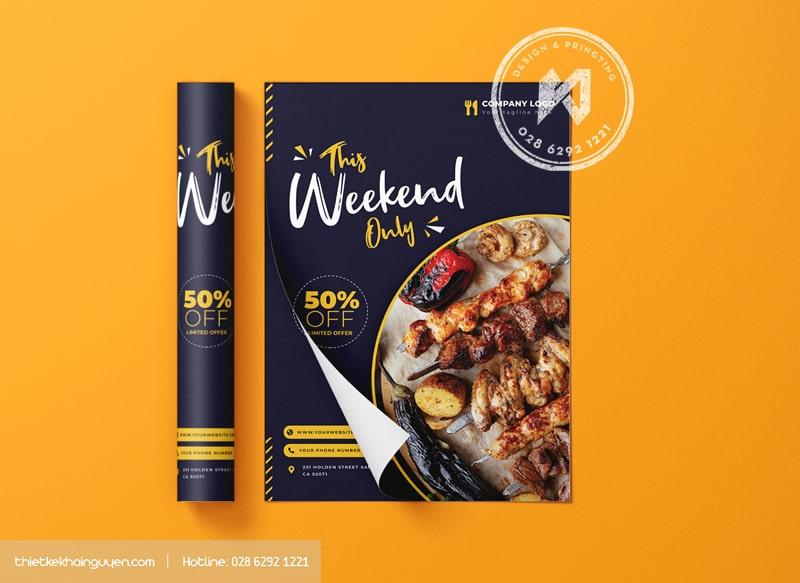 A5 Flyer - mẫu tờ rơi A5 đẹp cho nhà hàng