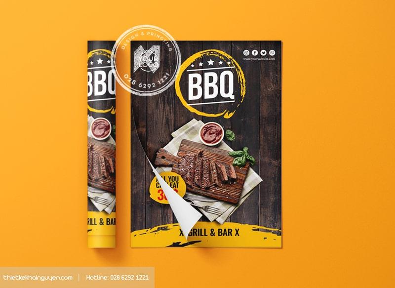 BBQ Flyer - mẫu tờ rơi đẹp cho nhà hàng BBQ thơm ngon