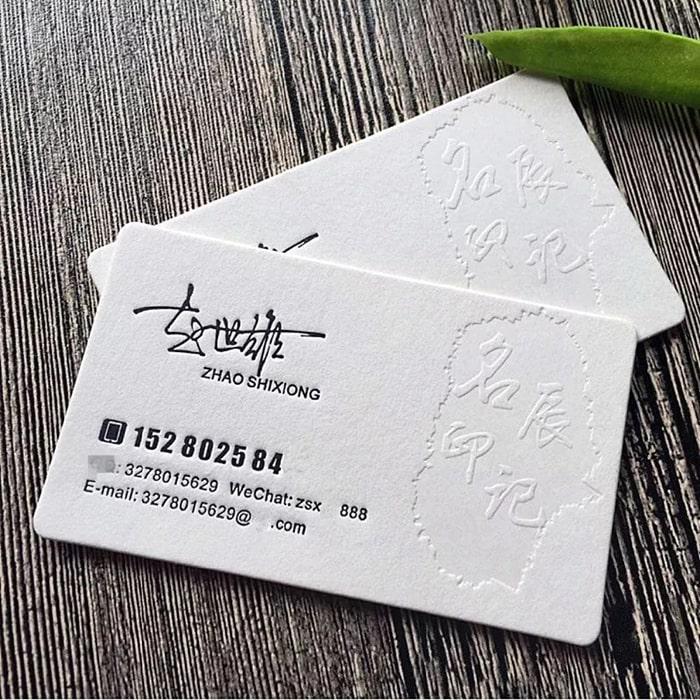 Businesscard ép lún - name card lạ đánh lừa thị giác