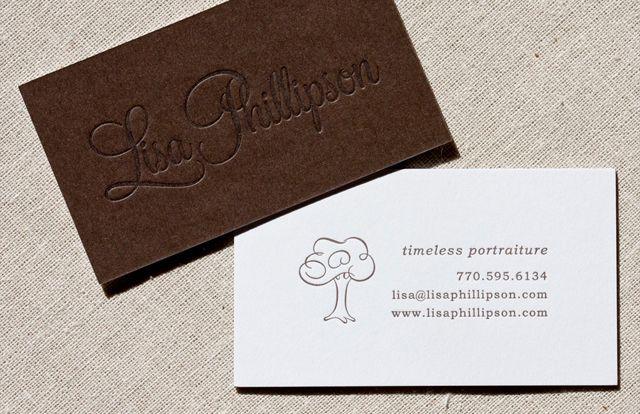 Dập chìm card visit giấy mỹ thuật đơn giản mà đẹp