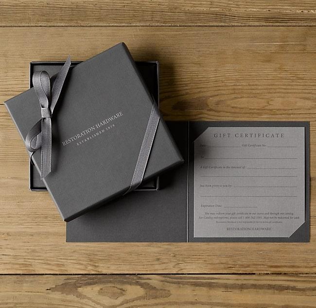Bộ gift voucher dạng box đẳng cấp