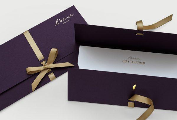 Bộ gift voucher đẳng cấp như thiệp mời
