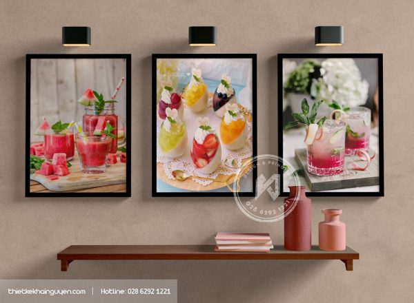 In tranh treo tường quán cafe đẹp