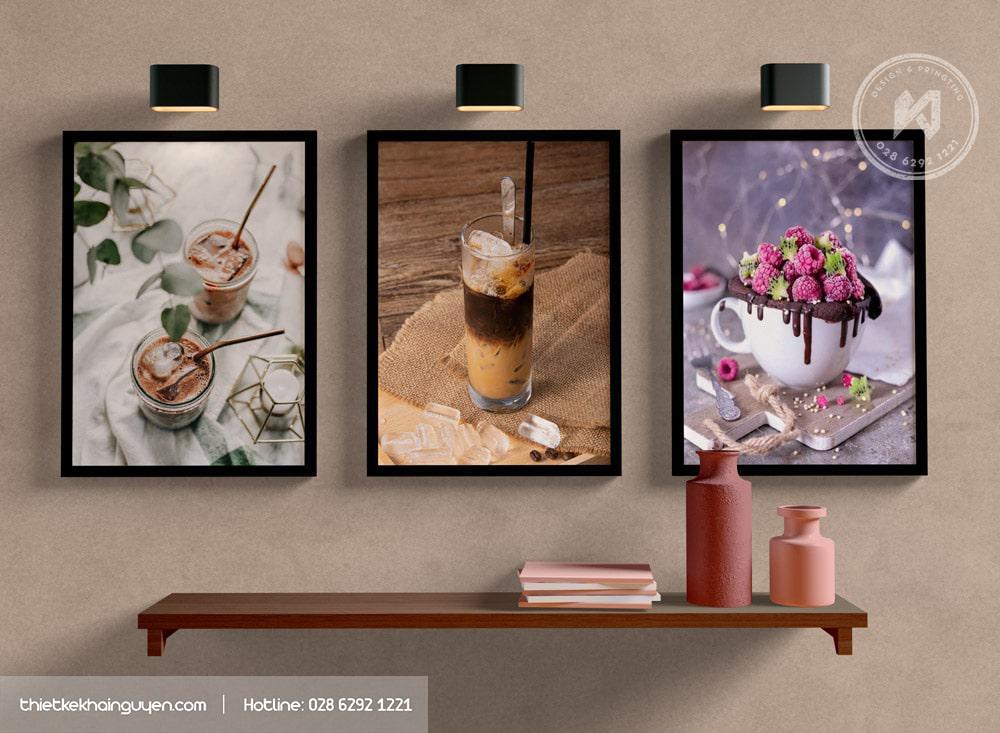 Tranh treo tường đẹp cho quán cafe giúp không gian đậm chất hơn