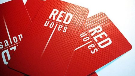 RED name card UV Spot