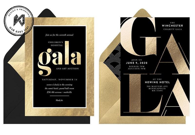 GALA Invatation Card - thiệp mời dự GALA sang chảnh