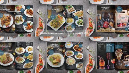 Mẫu thiết kế thực đơn nhà hàng kiểu TÂY – Seefahrer Restaurant menu.