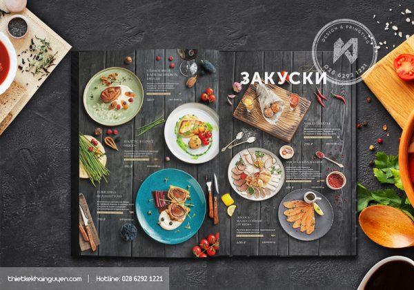 Thiết kế in ấn menu uy tín tại TPHCM
