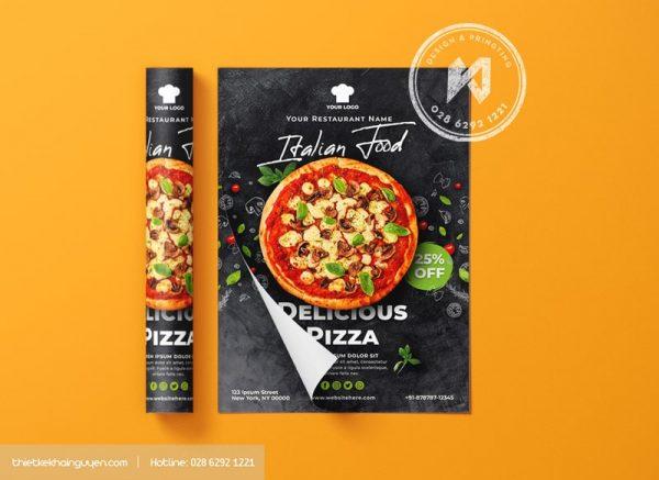Tờ rơi Pizza khổ A5 chuẩn