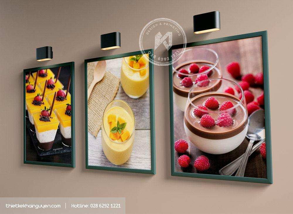 In tranh treo tường quán CAFE với hình ảnh bắt mắt