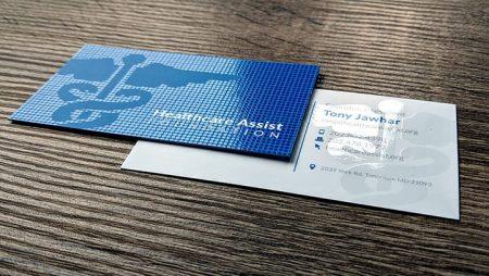 In card visit UV Spot  Lamination công nghệ đẳng cấp.