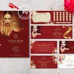 Thiết kế in ấn cho SPA - Hoa Spa Branding.