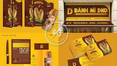 Bộ nhận diện Bánh Mì DND đặc trưng ẩm thực Việt.
