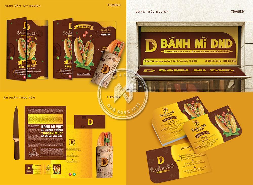 Branding bánh mì DND tổng hợp