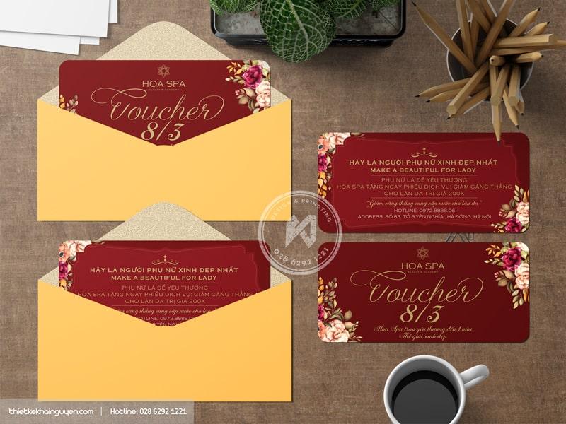 Gift voucher Hoa Spa rực rỡ sắc màu