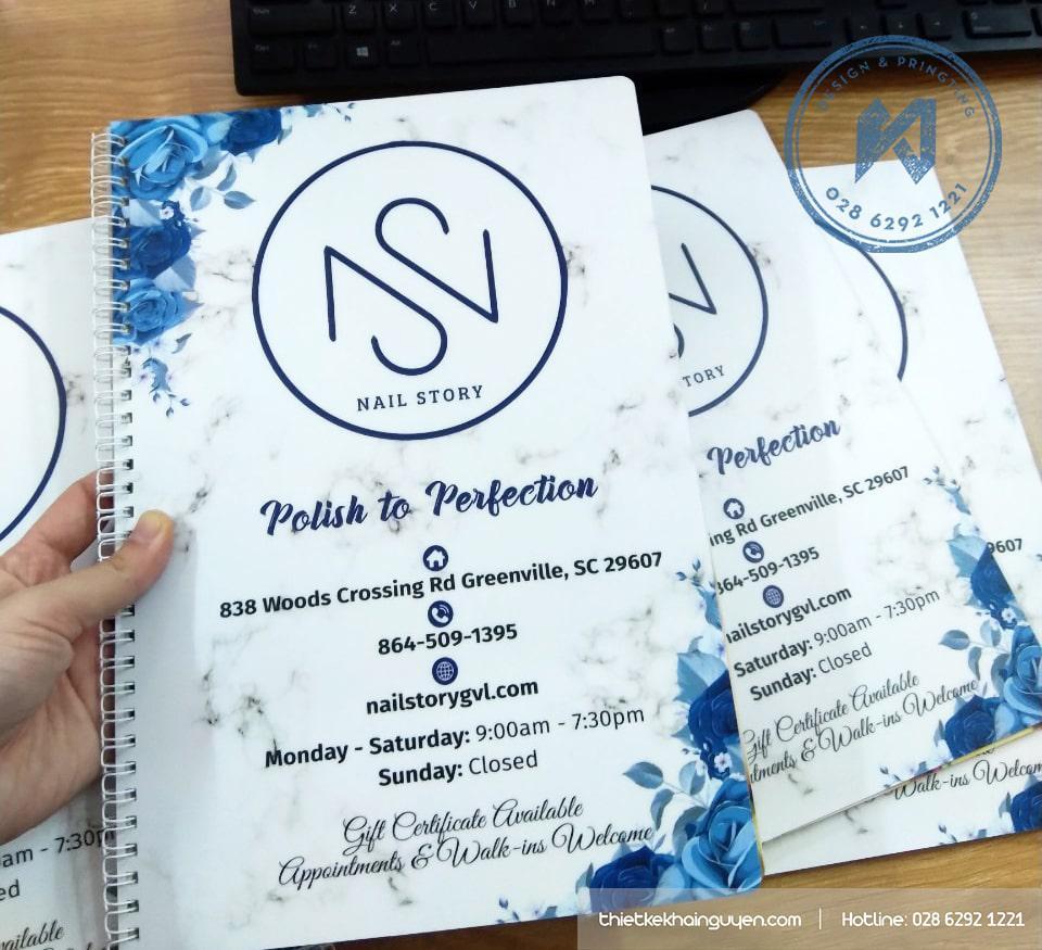 Nails Story menu nhựa chất lượng cao