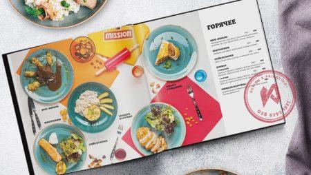 Mẫu thiết kế thực đơn cho nhà hàng style vuông vức kì lạ.