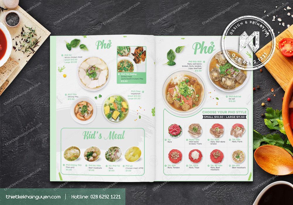 In menu nhà hàng Việt Nam - menu bìa cứng sang trọng