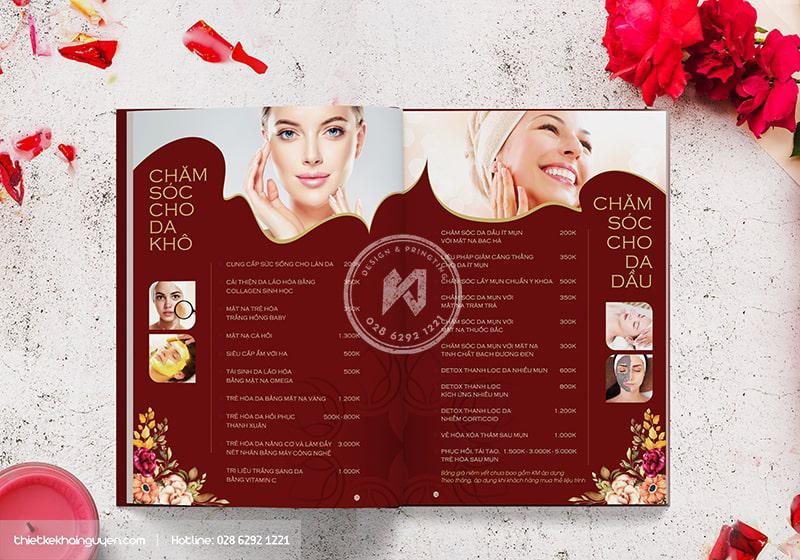 Menu Spa Beauty Hoa Spa phần 1