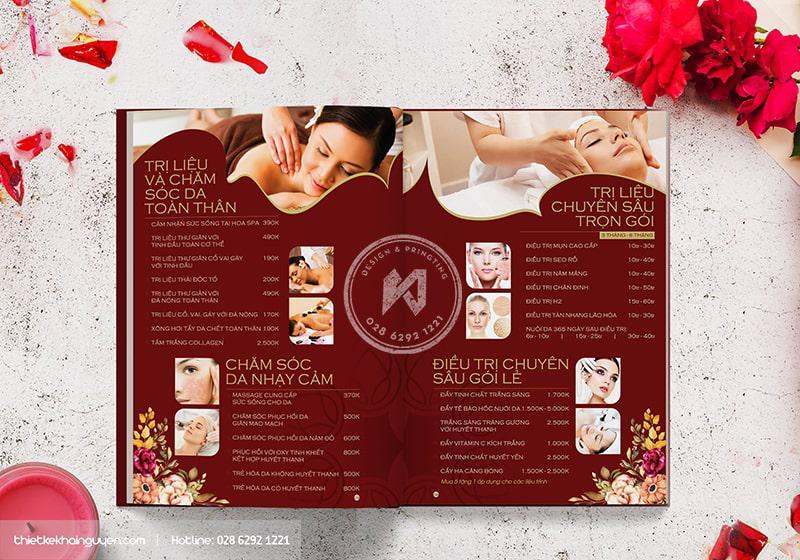 Menu Spa Beauty Hoa Spa phần 2