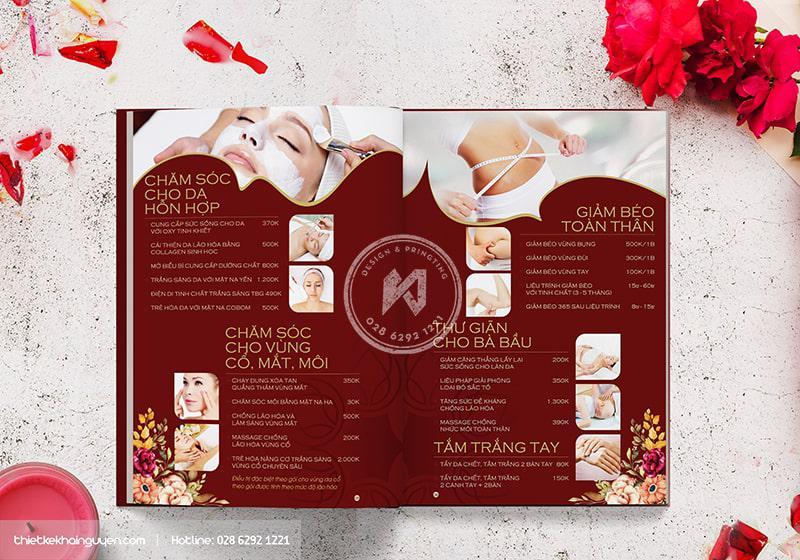 Thiết kế menu Spa - Hoa Spa Branding