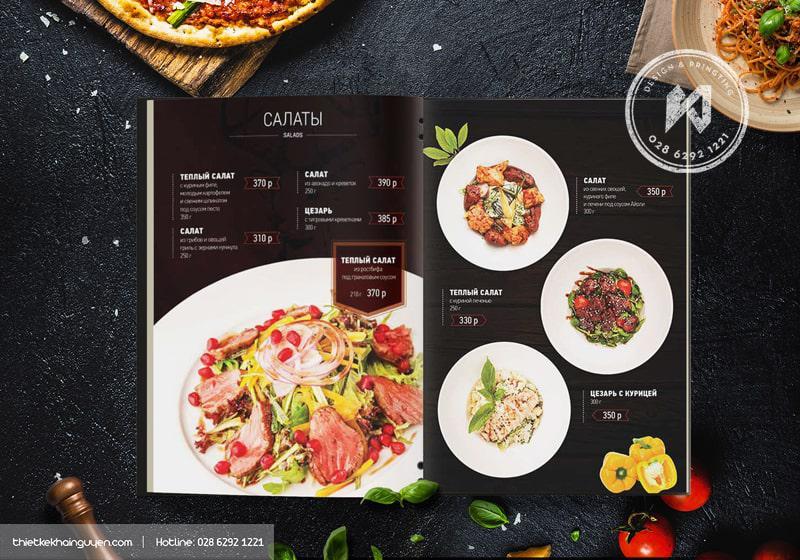 Menu tối giản, nghệ thuật thiết kế menu