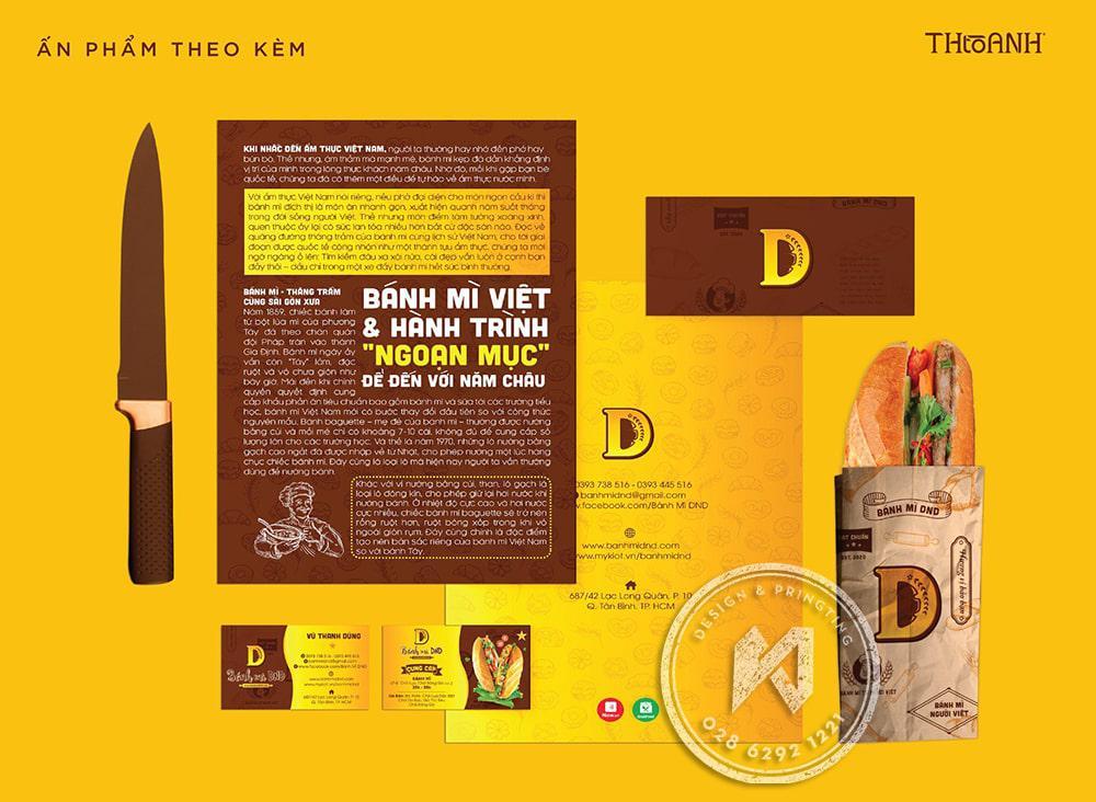 Bộ nhận diện thương hiệu bánh mì DND