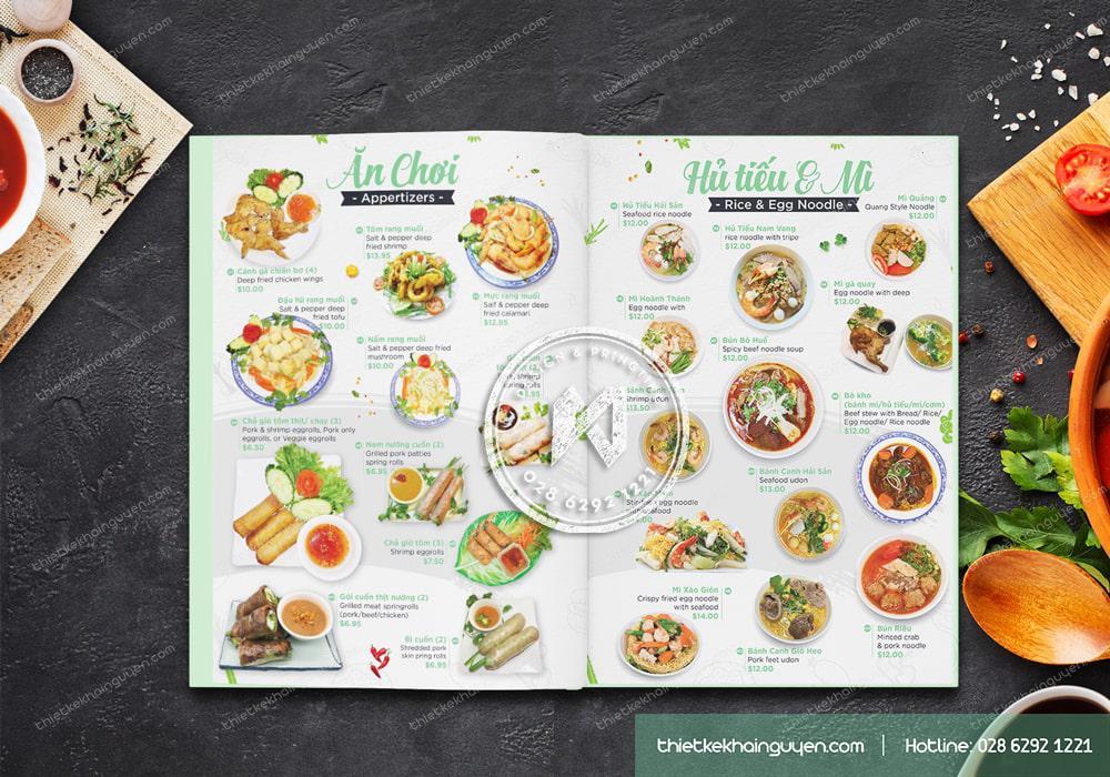 Thực đơn Phở Chopsticks phần hủ tiếu & món ăn vặt