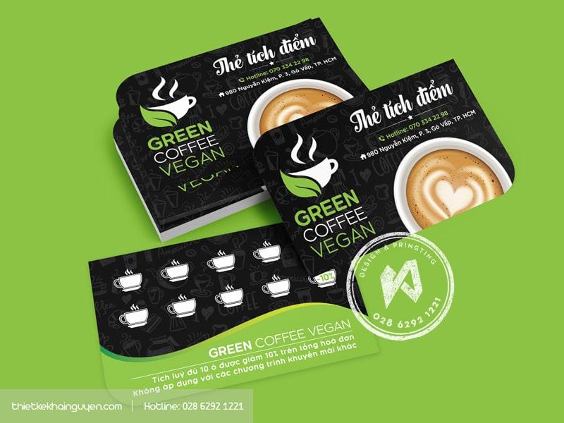 Green Coffe Vegan - thẻ tích điểm cho quán cà phê