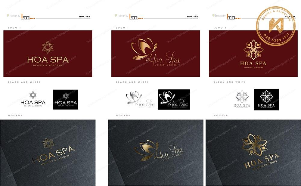 Thiết kế logo Spa Beauty - Hoa Spa Branding