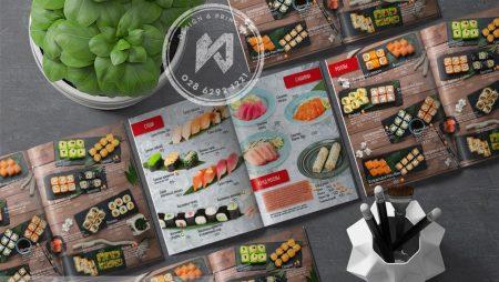 Thiết kế thực đơn nhà hàng Nhật tại Nga có gì khác biệt?
