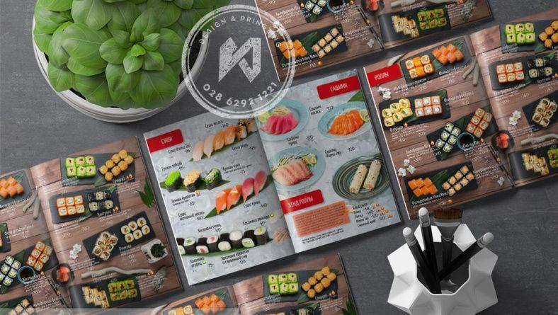 Thiết kế thực đơn nhà hàng Nhật Tại Nga