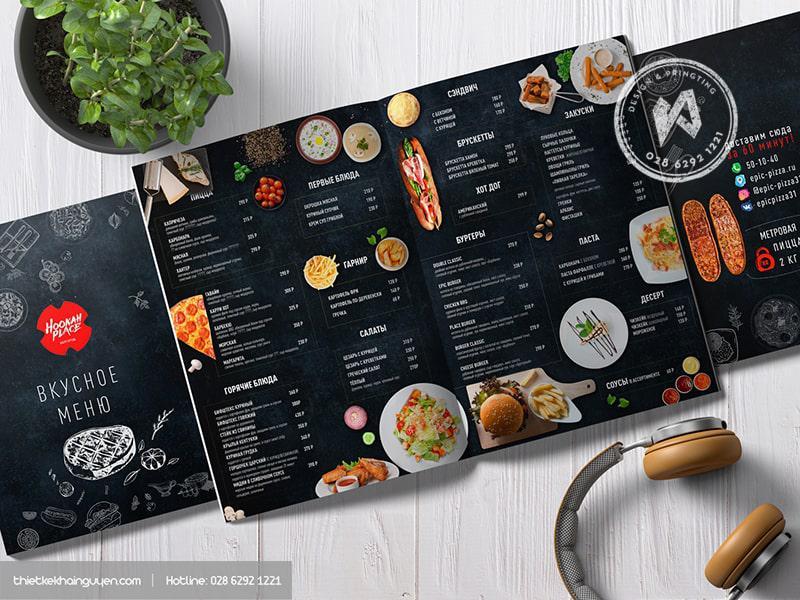 Mẫu thiết kế menu nhà hàng Nga đặc sắc