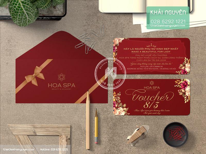 Voucher Hoa Spa với thiết kế rực rỡ