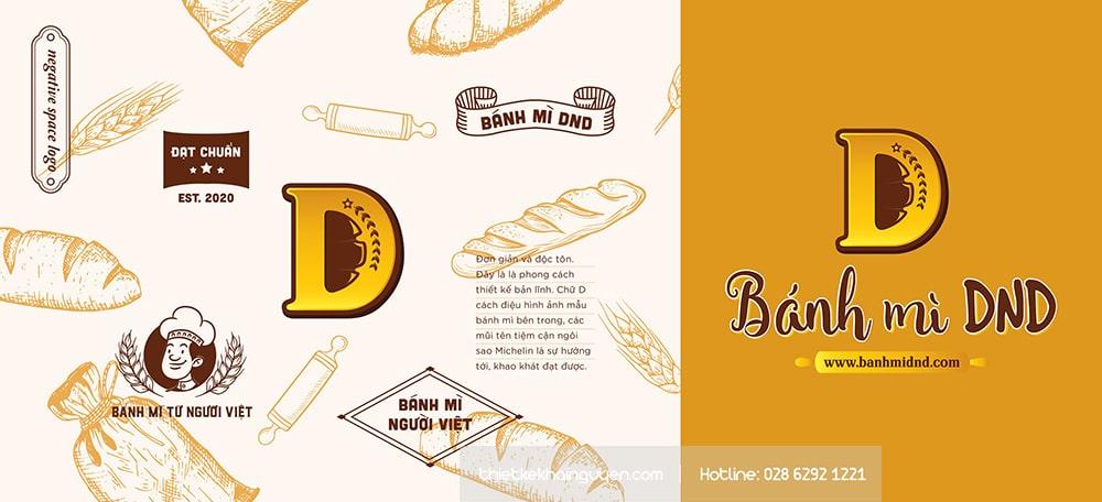 Thiết kế logo bánh mì đầy phong cách