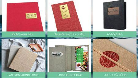 Mẫu menu vải sang trọng cho nhà hàng, Resort, Nails – Spa, coffee shop.