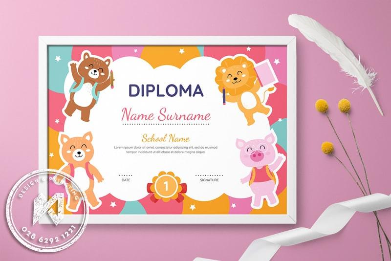 Kid Certificate - Giấy khen mẫu giáo với thế giới động vật ngộ nghĩnh